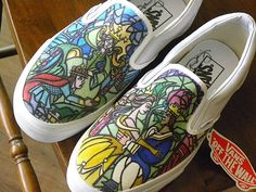 Custom painted shoes Disney. $100.00, via Etsy.