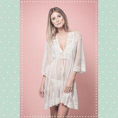 Karol Martins Handmade lingeries - Robe Lily Elsie Off- white