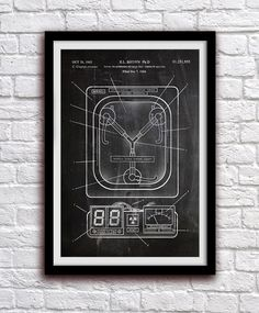 Flux Capacitor - Back To The Future - Action Figure Toy Decor - Patent Print Poster Wall Decor - 0998