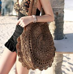 Sun Flower Beach Tote Bag Soft Paper Rope Crochet Round Straw Bag Boho Retro Foldable Shoulder Bag Travel Rattan Bag For WomenColor : White Light Brown Beige Dark Brown Size : Free Occasion : Casual Material : Canvas(out) / Dacron(in) (Units/Inches) Round Straw Bag, Round Bag, Bohemia Bag, Robes Dos Nu Maxi, Straw Weaving, Ethno Style, Crochet Shell Stitch, Backless Maxi Dresses, Straw Handbags