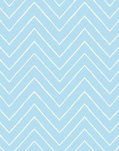 'Frances Chevron' Wallpaper by Wallshoppe - Baby Blue - Wallpaper Roll - Sample