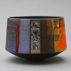 Tony Laverick - Vessel Working with a translucent porcelain and also a specially prepared black porcelain Tony's pieces are either thrown and or made from slabs. They are then fired to 1260°C with subsequent, sometimes numerous lustre firings at a lower temperature. Each piece is individually designed and expertly crafted.