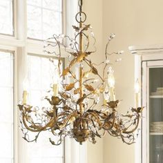 Ordered this 6 arm Grande Claire Chandelier in bronze - it hope it works! Kind of tall, but lovely and unique. Candle Cups, Decor, Lighting Collections, Dining Room Chandelier, Chandeliers And Pendants, Traditional Chandelier, Dripping Candles, Ballard Designs, Beautiful Chandelier