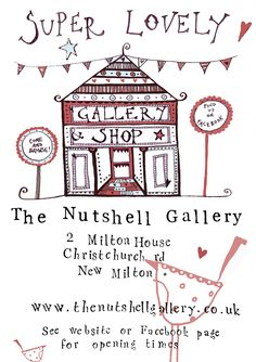 Our flyer for advertising the opening of the gallery - exciting times!!