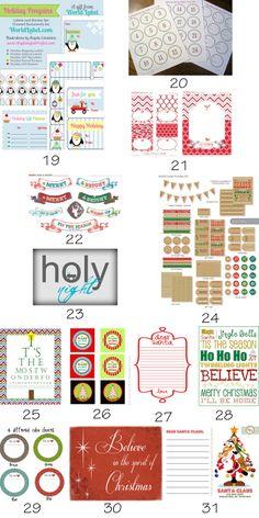 50+ {Roundup} Free Christmas Printables