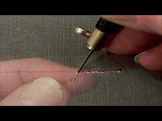 You Tube art of textiles: Tambour Beading - kralen naaien / borduren op stof met borduurring en speciale haaknaald