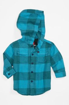 Love this blue plaid Quiksilver mini flannel!