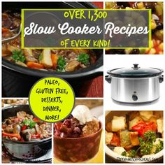 Head on over to Free Homeschool Deals for over 1300 Slow Cooker Recipes.