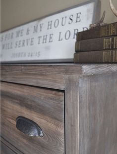 Farmhouse Dresser build with Restoration Hardware finish steps posted in comments Wood Shop Projects, Chalk Paint Projects, Diy Furniture Projects, Furniture Decor, Painted Furniture, Stain Furniture, Crate Furniture, Distressing Chalk Paint, Weathered Grey Stain
