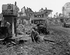 Most of the small towns of the Ardennes were destroyed during the battle, including Bastogne, where American forces were besieged for a week before General Patton's Third Army came with relief.