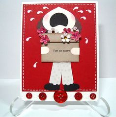 Wednesday - Card made from Stampin Up! Punches - Stamping and Paper Creations by Susi-Q