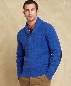 Tommy Hilfiger Sweater, Brant Shawl Collar Sweater - Mens - Macy's