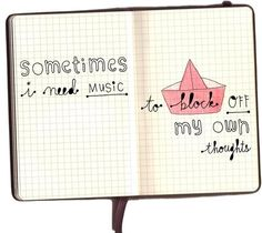 sometimes I need #music to block off my own #thoughts