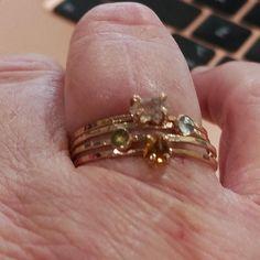 Birthstone Stacking Ring Gemstone Ring Mothers Ring Gold | Etsy Birthstone Stacking Rings, Multiple Rings, Mother Rings, Green Tourmaline, Blue Sapphire, Band Rings, Birthstones, Natural Gemstones, Mothers