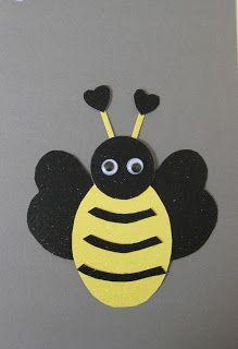 punch art tutorials | Punch Art Valentine Bee tutorial
