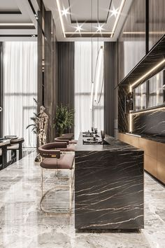 Have a look at these amazing projects and be inspired! #luxuryhome #interiordesign #luxurydesign #moderndesign #luxuryinterior #contemporarydesign #interiordesignproject Luxury Kitchen Design, Kitchen Room Design, Home Room Design, Home Design Decor, Dream Home Design, Luxury Kitchens, Luxury Home Decor, Küchen Design, Modern House Design
