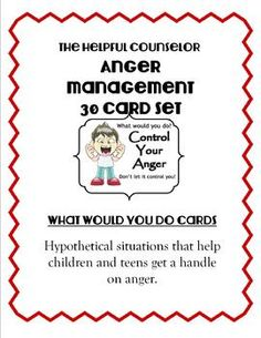 Social Skills: Anger Management 30 Card Set + Activities