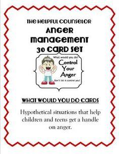 Social Skills: Anger Management 30 Card Set + Activities