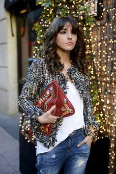 Alexandra Pereira looks-Luxe Sequin Tweed Coco Jacket