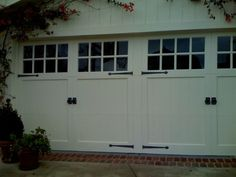 jPretty garage doors are a must when all you see of the house from the street are the doors!