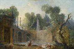 The 'Teatro Delle Acque' in the Garden of the Villa AldobrandiniHubert Robert (French, 1733–1808)Oil on canvas, 55.9 x 75.8 cm.Private Collection