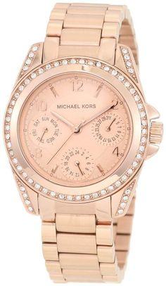 Michael Kors Blair Glitz 33MM Rose Gold Women's Watch MK5613