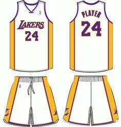 Los Angeles Lakers Alternate Uniform 2002- Present Los Ángeles Lakers 6d47924bb