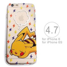 Phone Case for iPhone 6 Cartoon Painting Cute Style TPU Soft Clear Pokemons Go Pokeball Cases Cover for Apple 6s 4.7 inch