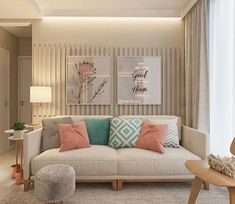 Amei as cores dessa sala de estar Accent Walls In Living Room, Home Living Room, Interior Design Living Room, Living Room Designs, Living Room Decor, Bedroom Decor, Diy Deco Rangement, House Design, Modern