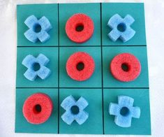Cool pool noodle crafts: Tic Tac Toe by Ziggity Zoom Noodles Games, Pool Noodle Games, Pool Noodle Crafts, Foam Noodles, Crafts With Pool Noodles, Water Noodles, Summer Crafts, Crafts For Kids, Kids Diy