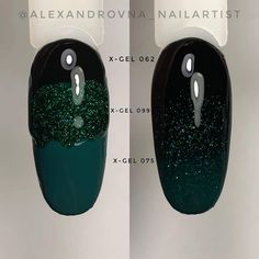 Black, sparkly in color plain in color 1 Diy Nails, Cute Nails, Black Gel Nails, Gel Nail Art Designs, Manicure And Pedicure, Nails Inspiration, Hair And Nails, Nail Colors, Acrylic Nails