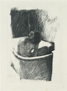 Pierre Bonnard, Le Bain, c.1926, lithograph on chine volant, 29.5 x 27.5 cm, from the edition of 50