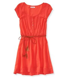 aeropostale womens belted shirt dress
