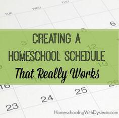 creating homeschool schedule