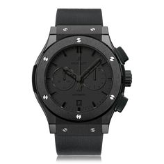Model Hublot Classic Fusion Ceramic automatic Watch 541.CM.1110.RX Functions Swiss made, 42 mm, ceramic case, black rubber strap, automatic movement, scratch resistant sapphire crystal glass, water resistant to 50 metres. Features A refined progression on the Big Bang's modern and aggressive aesthetic, the sublime timepieces of the Classic Fusion collection are- as the name suggests- distinctly classic in appearance. In regard to the latter part of the collections name: Fusion- refers to…