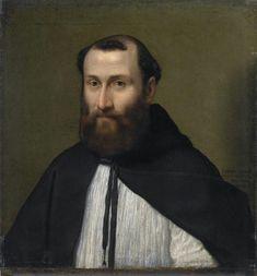 Ritratto di canonico lateranense.  1556. Olio su tela . Pinacoteca Tosio Martinengo