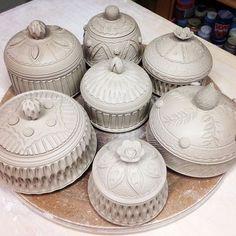 ceramic treasure jars #pigeonroadpottery