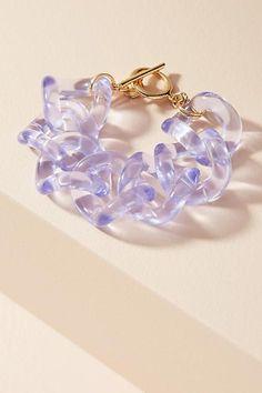 Anthropologie Linked Lucite Wrap Bracelet
