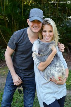 Michael Bublé and Luisana Lopilato took some time out to spend with family at Australia Zoo amidst Michael's busy world tour recently. April the koala looks like she enjoyed the celebrity cuddle!    Michael was joined by his parents, wife and young son and enjoyed meeting heaps of wildlife, as well as visiting the Australia Zoo Wildlife Hospital.`