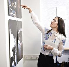 12/04-2018 Crown Princess Mary of Denmark attended opening of BORNEfonden's 'Transformation' photograph exhibition held at the YUME Studio in Copenhagen.