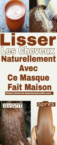 Lisser les cheveux naturellement avec ce masque fait maison With this homemade mask, you can get rid of curls without using heat and smooth hair naturally Hair Masque, Hair Serum, Trending Hairstyles, Afro Hairstyles, Hair Colorful, Hair Cute, Curly Hair Styles, Natural Hair Styles, Dying My Hair