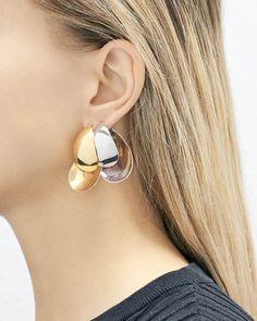 Les boucles d'oreilles Petals en vermeil et argent de Charlotte Chesnais