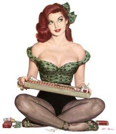 Kissme espadrilles - Al Moore's Pin-Ups-1940's & 1950's