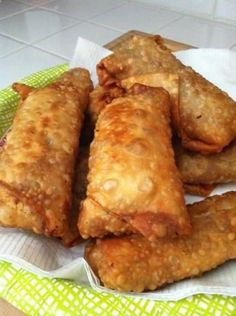 Easy egg roll recipe (using a bag of cole slaw mix saves so much time!)