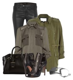 """Military Inspired (OUTFIT ONLY!)"" by bliznec ❤ liked on Polyvore featuring J Brand, River Island, DKNY and Rebecca Minkoff"