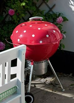 so much more exciting than my black weber grill...