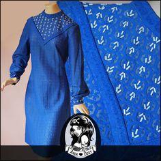 Vintage 1960 Striking Blue Lace Carnaby St Beaded GOGO MOD Twiggy Scooter Dress