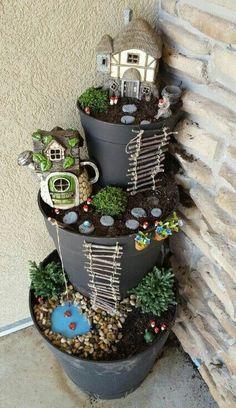 4 Abundant Cool Tips: Mini Garden Ideas Fairy backyard garden flowers plants.Backyard Garden Lights Fun home garden ideas plastic bottles.Backyard Garden Ideas On A Budget. Garden Crafts, Garden Projects, Garden Art, Garden Design, Diy Projects, Garden Oasis, Easy Garden, Herb Garden, Landscape Design