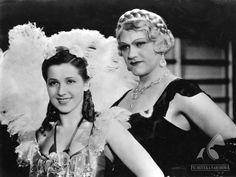 Helena Grossówna with Eugeniusz Bodo in movie Piętro wyżej,1937.