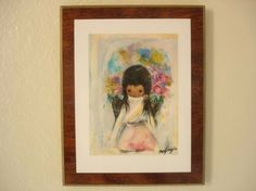 Flower Girl by Ted DeGrazia via Dusty Treasures